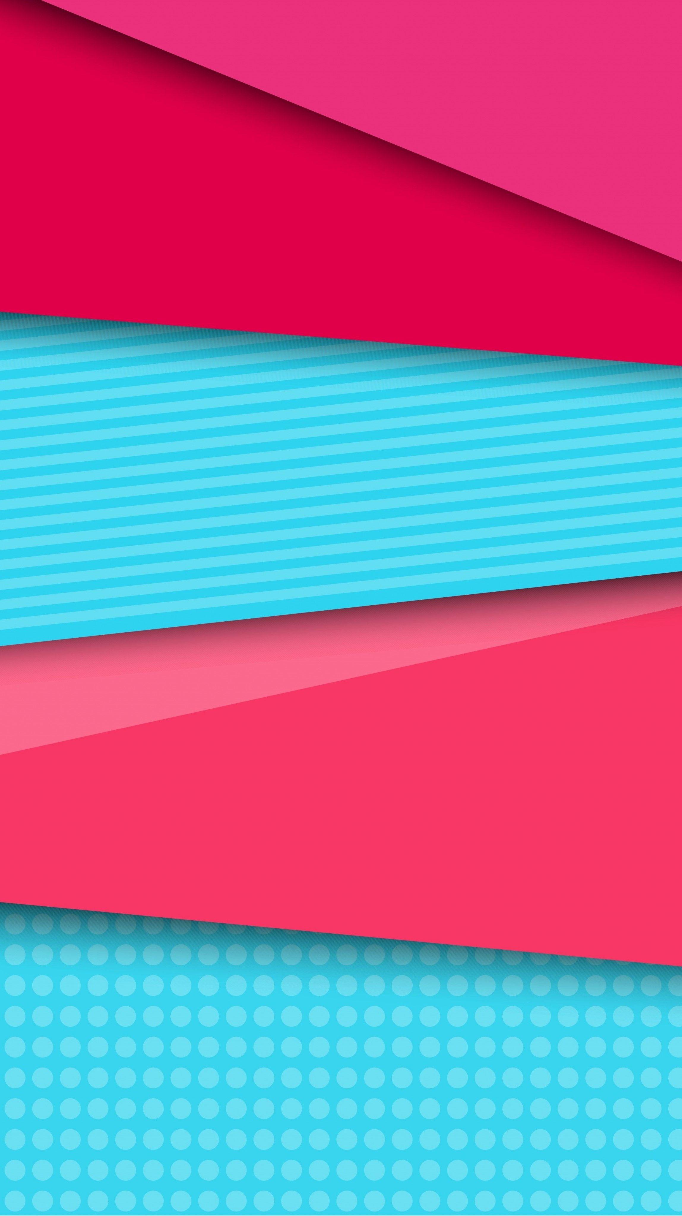 Pink And Aqua Abstract Stripes Wallpaper Stripes And Polka Dots