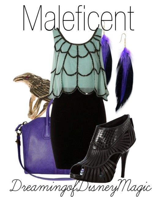 a look based on sleeping beauty's Malificent, how cool!