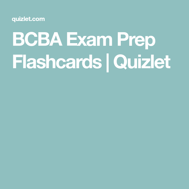 Bcba Exam Prep Flashcards Quizlet Ear Anatomy Flashcards