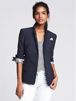 BP Navy Lightweight Wool Two-Button Suit Blazer - Blazers | Style ...
