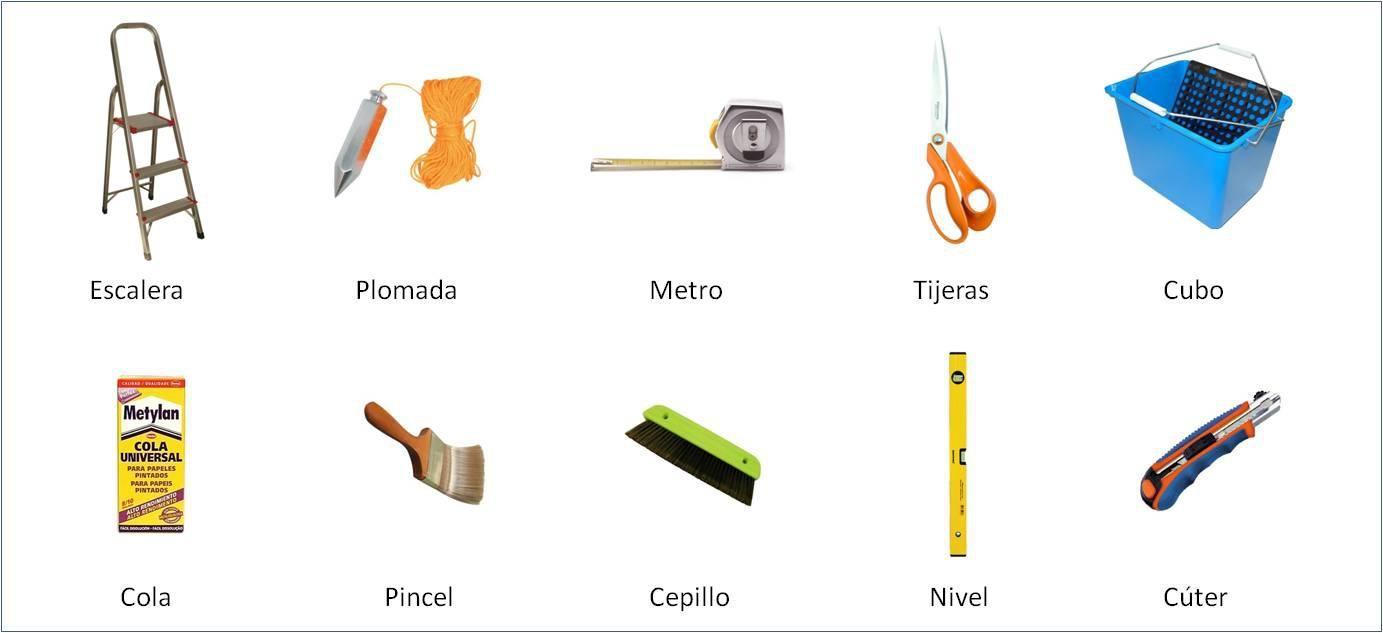 herramientas para instalar papel mural proyectos que