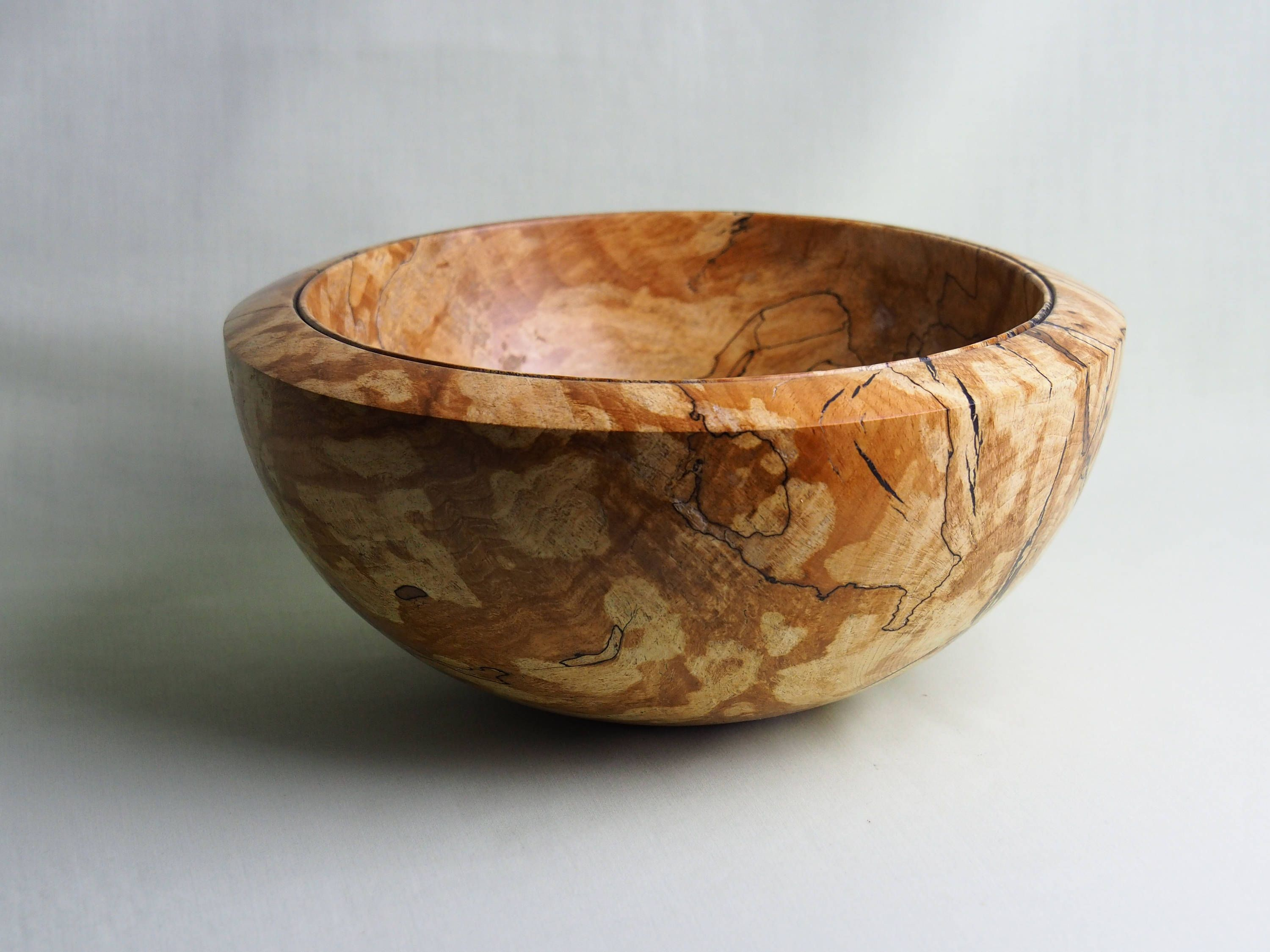 Spalted Beech Bowl Sourced From Dorset 240mm W X 115mm H Oiled