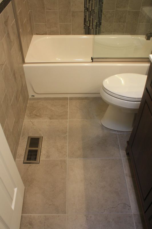 """Floor tile is by Crossville, Inc. Manoir 18"""" Hermitage ..."""