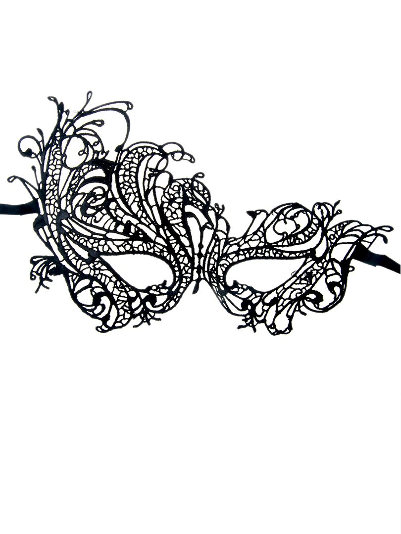 Halloween or Mardi Gras! Sexy Black Phoenix Crochet Lace Mask #Sexy ...