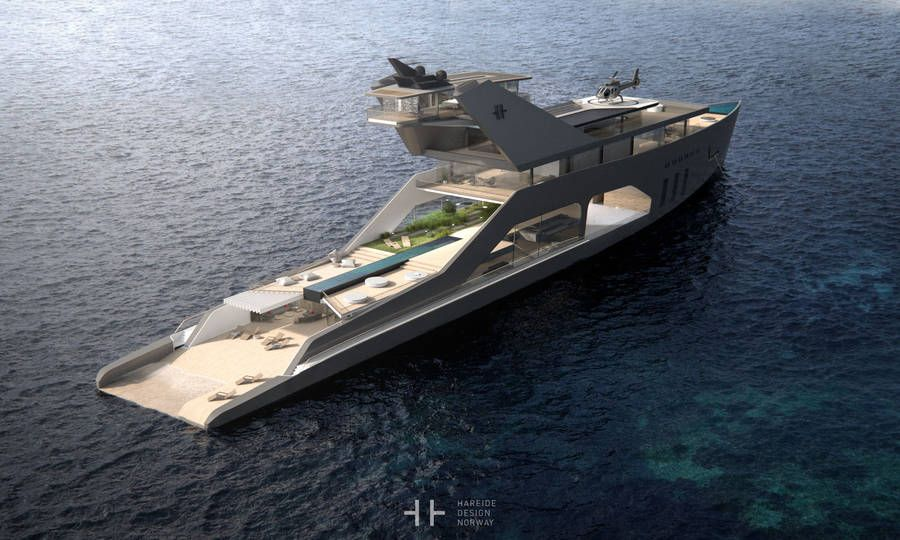 Norwayu0027s Hareide Design Has Imagined A Hybrid Superyacht That Has A Layout  And A Number Of Amenities That Appeals To The Ultra Rich