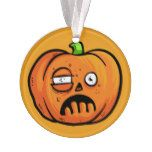 Halloween Pumpkin custom text ornament 8 #halloween #happyhalloween #halloweenparty #halloweenmakeup #halloweencostume