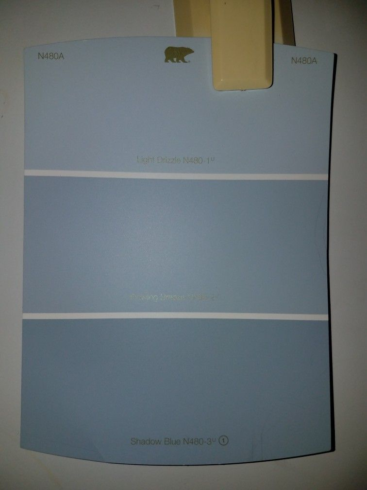 Wall Behr N480a Light Drizzle Flowing Breeze Shadow
