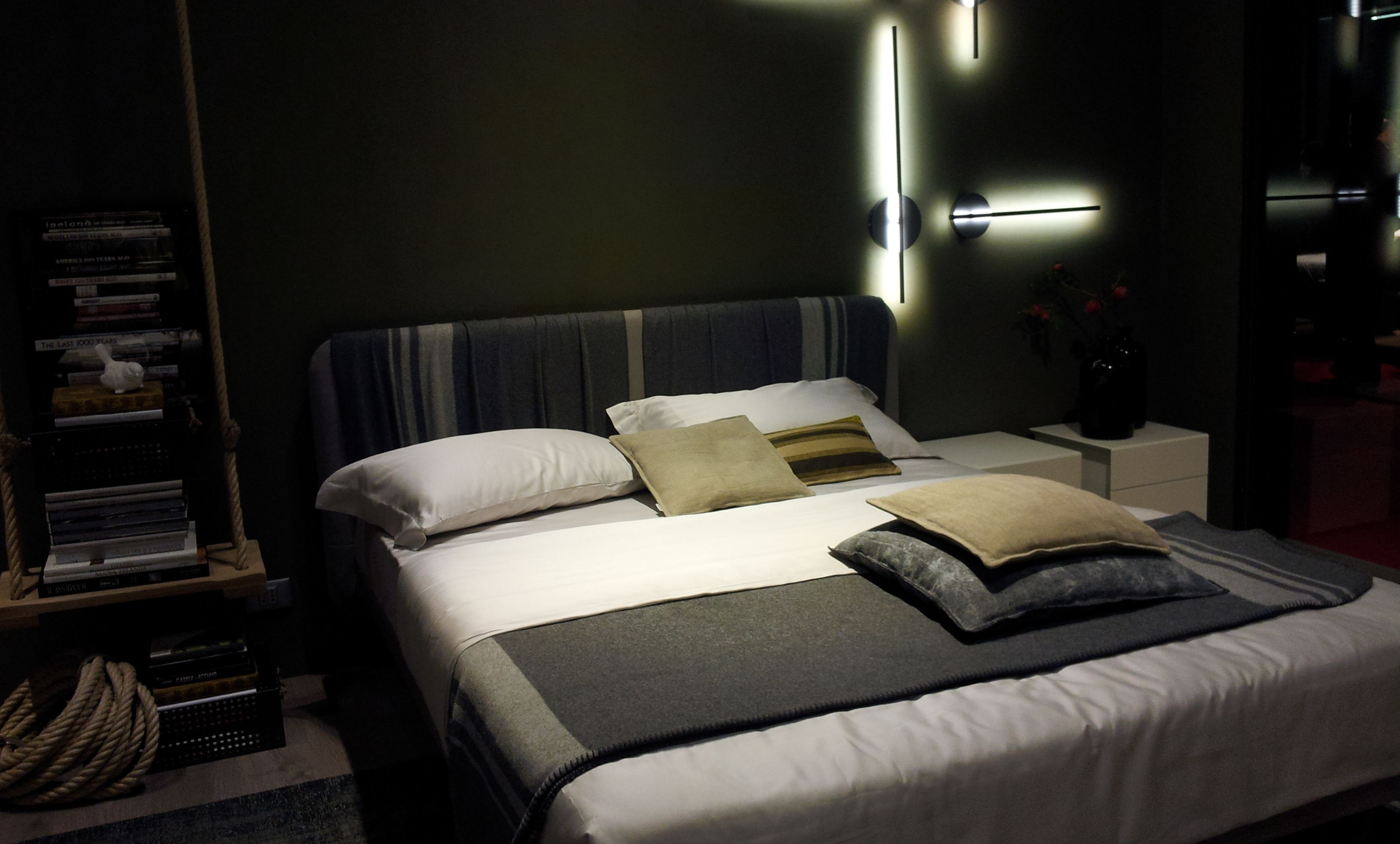 olive green bedroom (by tomassini) | salone del mobile milan with