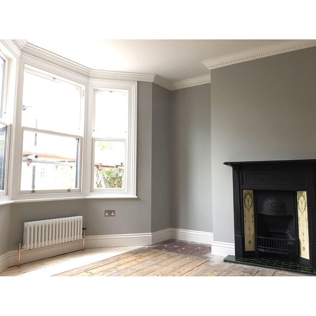 Farrow Ball Lamp Room Gray Living Room Color Schemes Living Room Grey Dining Room Colour Schemes