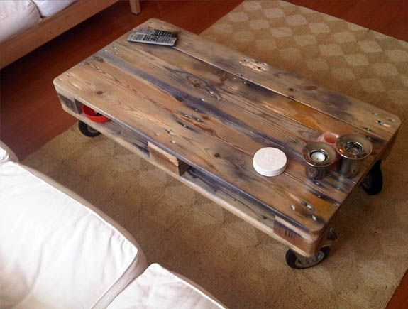 Table basse partir d 39 une palette tuto - Faire table basse avec palette ...