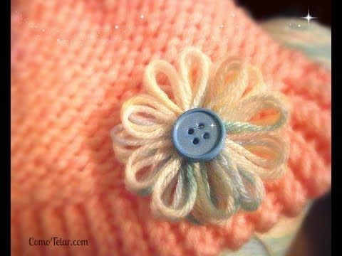 Flower On A Knifty Knitter Flower Loom Make With Any 12 Peg