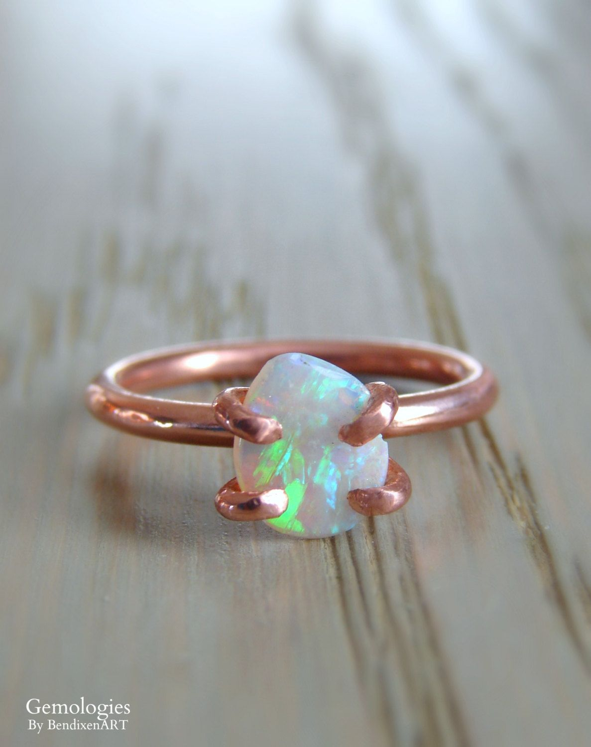 Raw Opal Ring Rough Fire Opal Jewelry Birthday Gift For Women