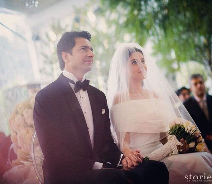 Asin And Rahul Have The Most Stylish Wedding Ever Christian Bride Christian Wedding Gowns Celebrity Wedding Photos