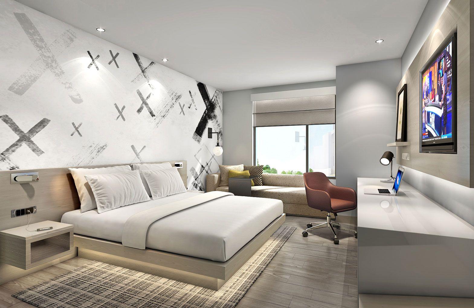Cambria Hotel And Suites El Segundo Designed By Studio Hba Hotel Bedroom Design Hotel Room Design Hotel Interiors