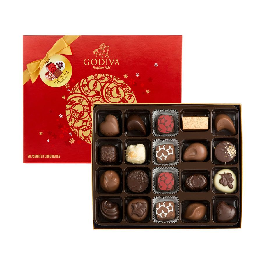 Godiva Christmas 2015 Assorted Chocolates 20 Pcs Chocolate Assortment Luxury Christmas Gifts Godiva