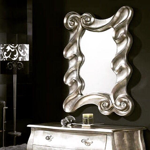 acf597c8 Speil modell i bladsølv modell OLAS. #speil #bladsølv #glass ...