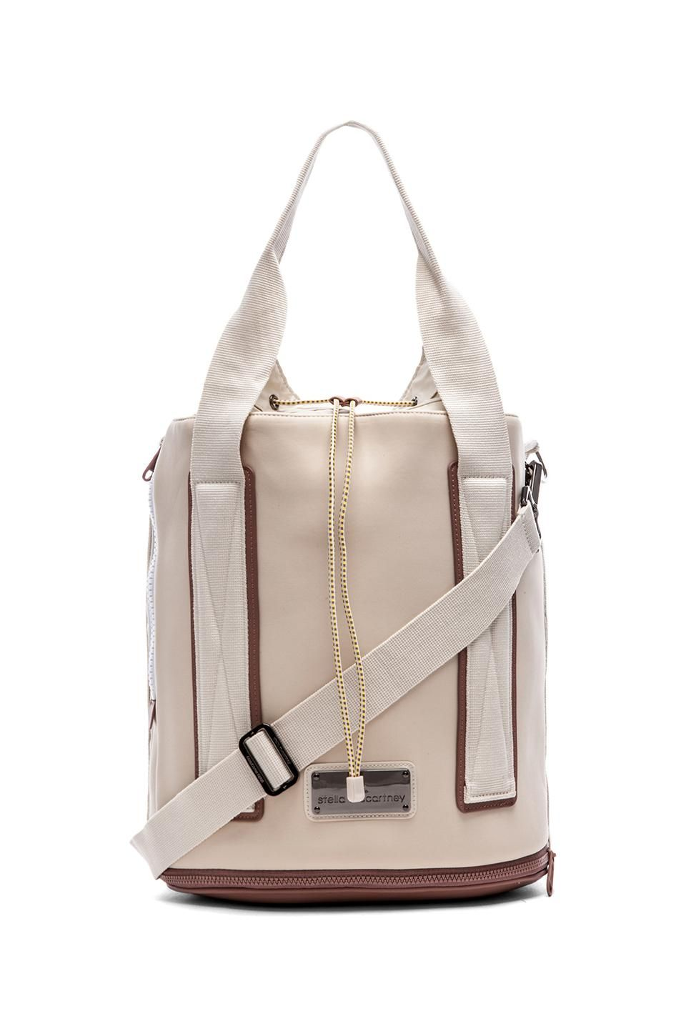 c9f294595def adidas by Stella McCartney Barricade Tennis Bag in White Vapour   Gunmetal