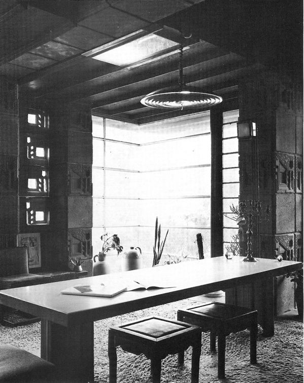 Samuel and Harriet Freeman House. 1924. Hollywood Heights, Hollywood, California. Textile block Period. Frank Lloyd Wright.