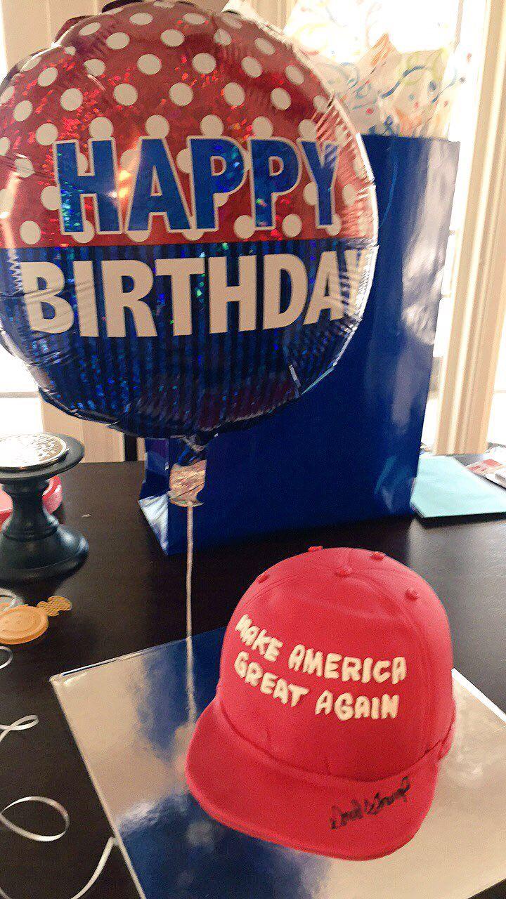 Zachs 18th Birthday Cake I Made 3 5 17 Trump Hat