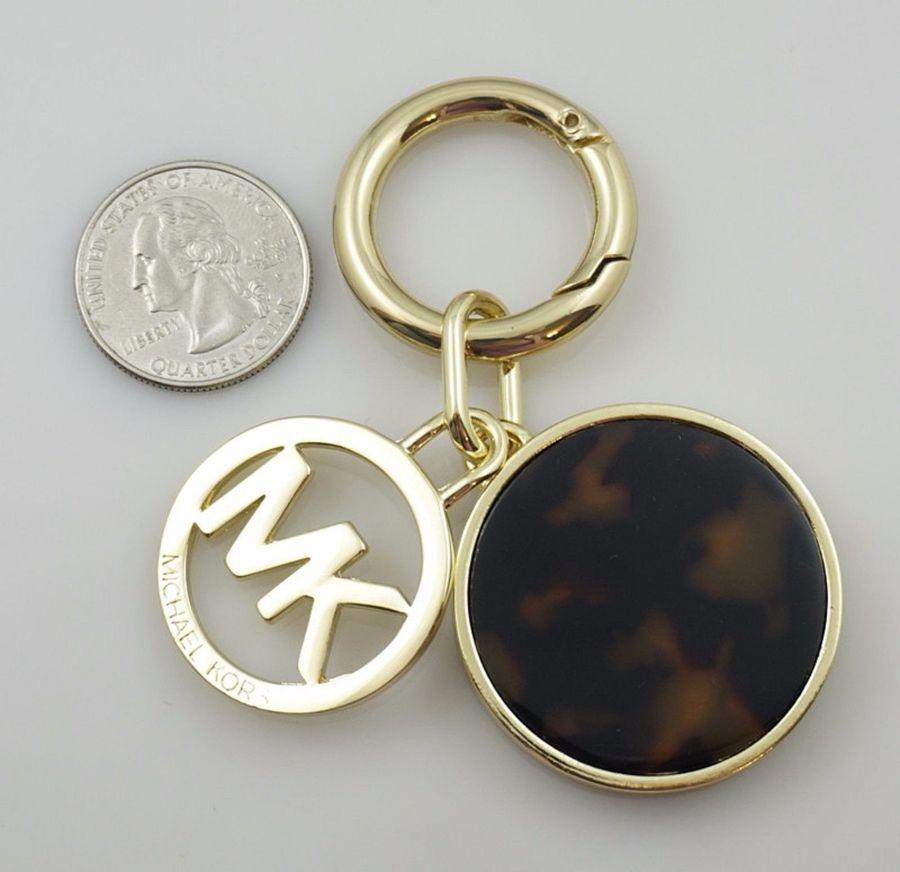 Letter M@@K Logo New Gold Tone Chain Bag Charm Key Fob