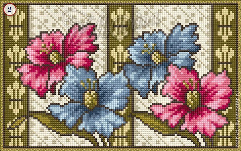 """Купить Подушка """"Винтажный цвет"""" - комбинированный, реконструкция схемы, старинная схема вышивки, винтаж"""