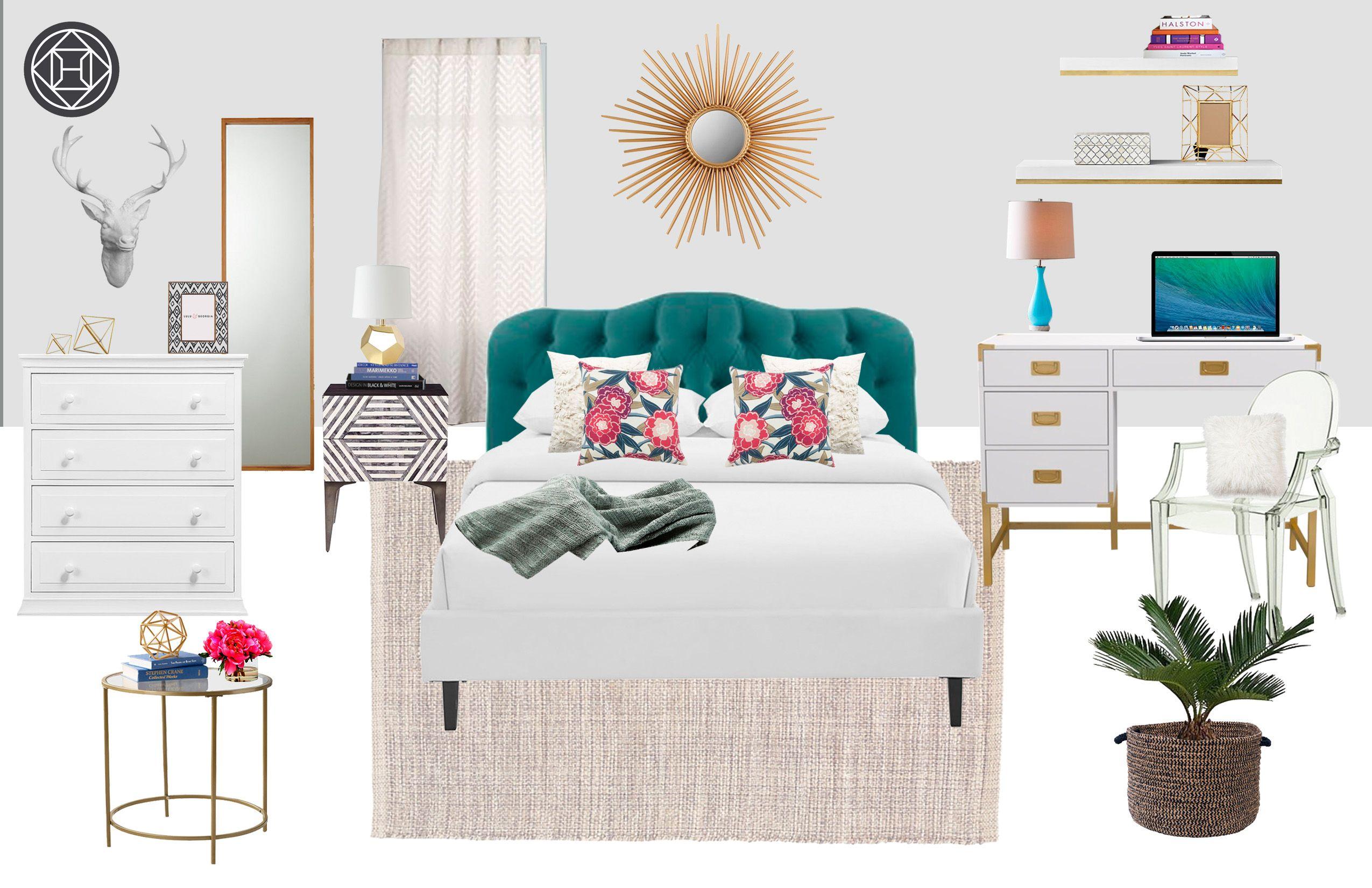 Eclectic, Glam Bedroom Design by Havenly Interior Designer ...