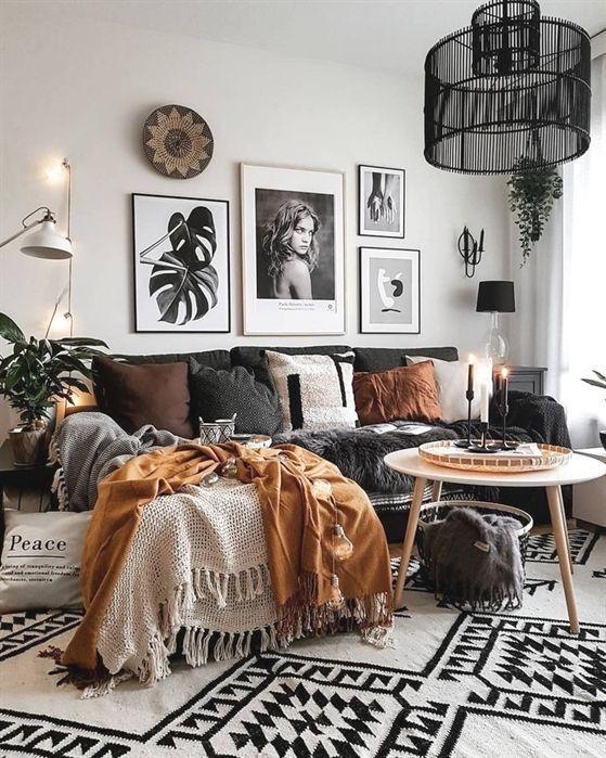 Wall Art Decor Ideas Bohemiam Decorating In 2020 Modern Boho Living Room Fall Living Room Decor Bohemian Style Living Room