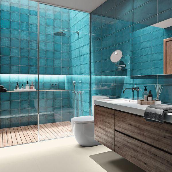 Panorama des nouveaux carrelages de salles de bains Pinterest