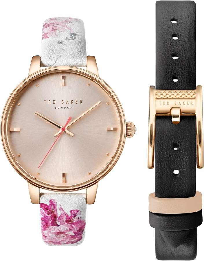 42a70db02ddf Ted Baker Kate Leather Strap Watch Set