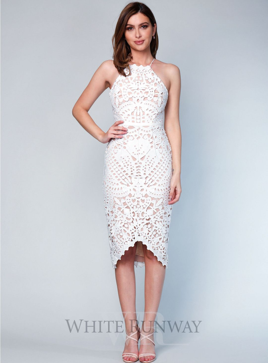 Dress to wear to a wedding as a guest in june  Ivory Ania Lace Dress A gorgeous cocktail dress by Love Honor A