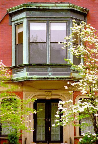 Boston Commonwealth Avenue Bay Window Bay Window Windows Greek Revival Architecture