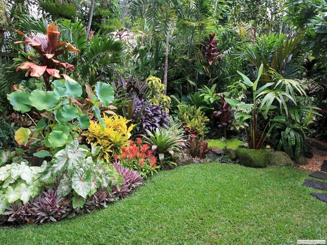 15+ Beautiful Tropical Front Yard Landscape Ideas To Make ... on Tropical Landscaping Ideas For Small Yards id=50717