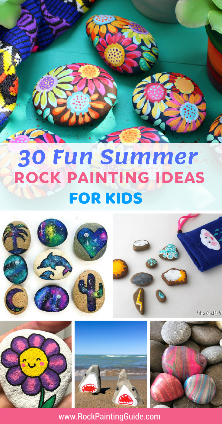 Try These Fun And Easy Summer Rock Painting Crafts For Kids 30 Of The Best Rock Painting Ideas For Kids From Painted Rocks Kids Painting Crafts Painted Rocks