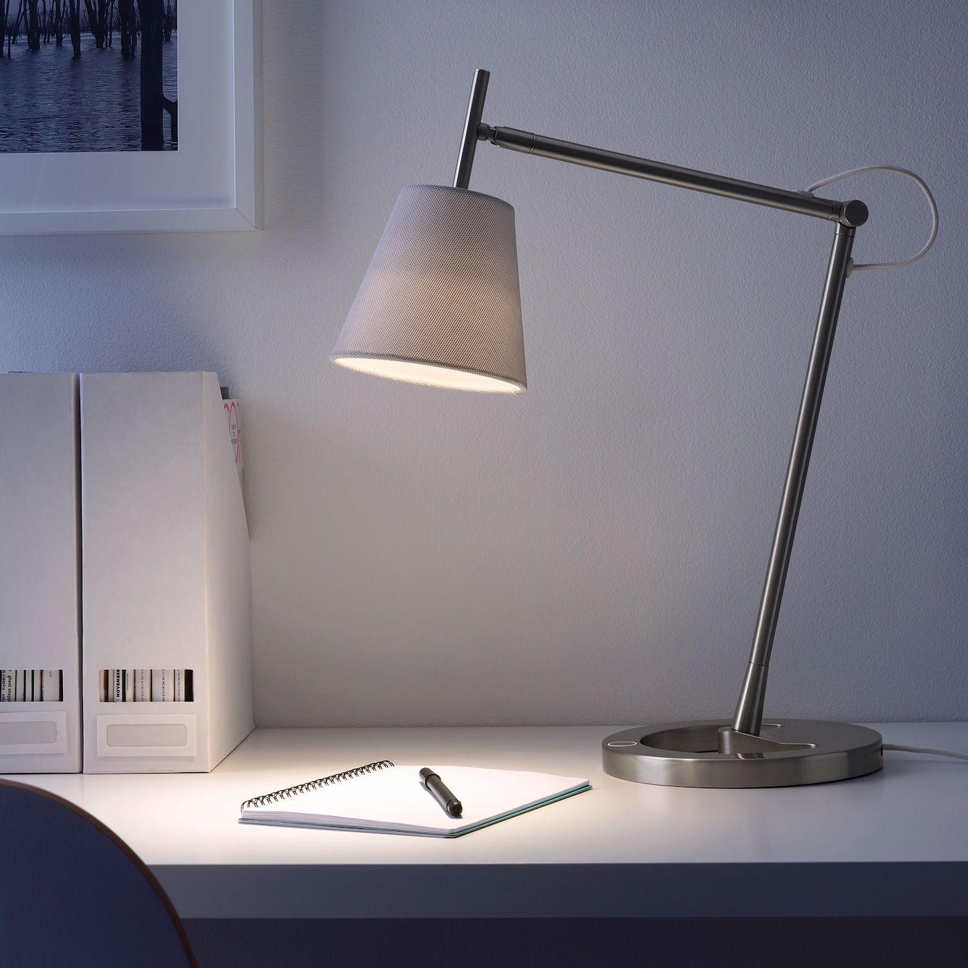 IKEA NYFORS Work lamp nickel plated white   Work lamp