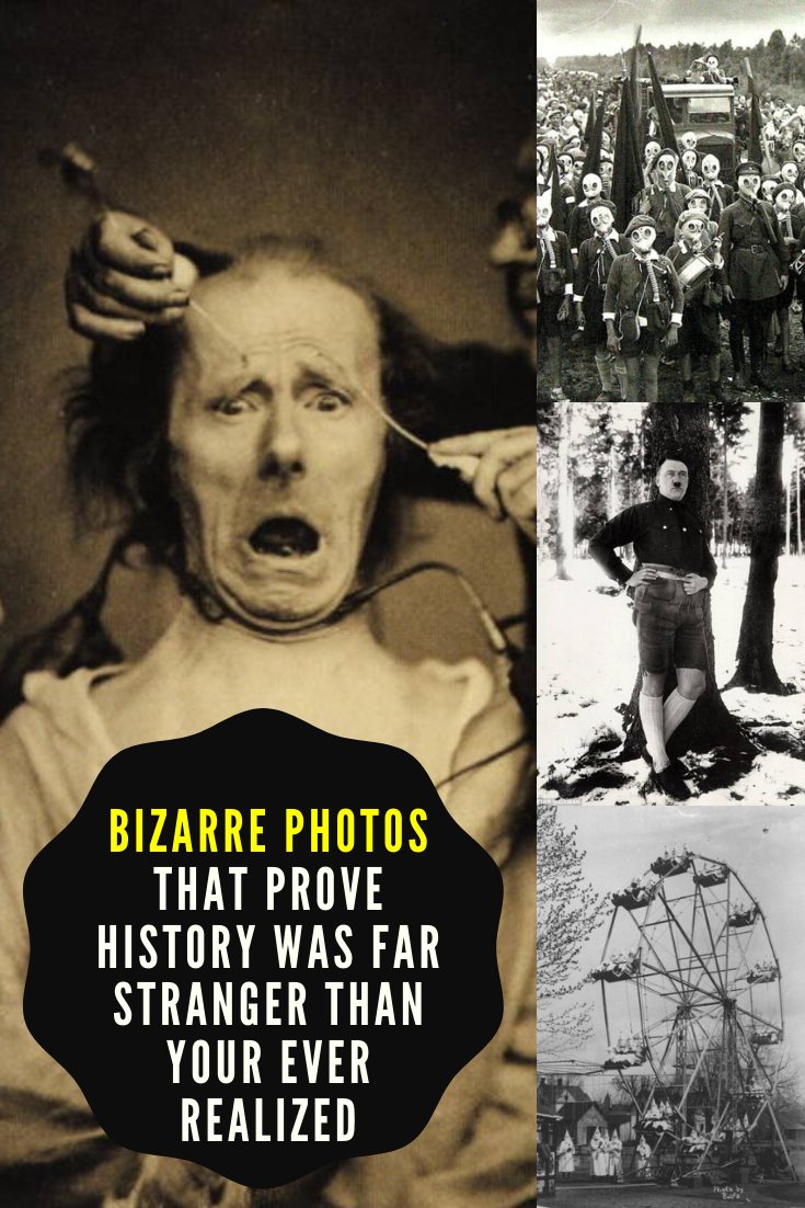 Best Funny Pins Bizarre Photos That Prove History Was Far Stranger Than Your Ever Realized From Boston's Great Molasses Flood to Los Angeles' alligator picnics, these bizarre photos make history much more interesting. 9