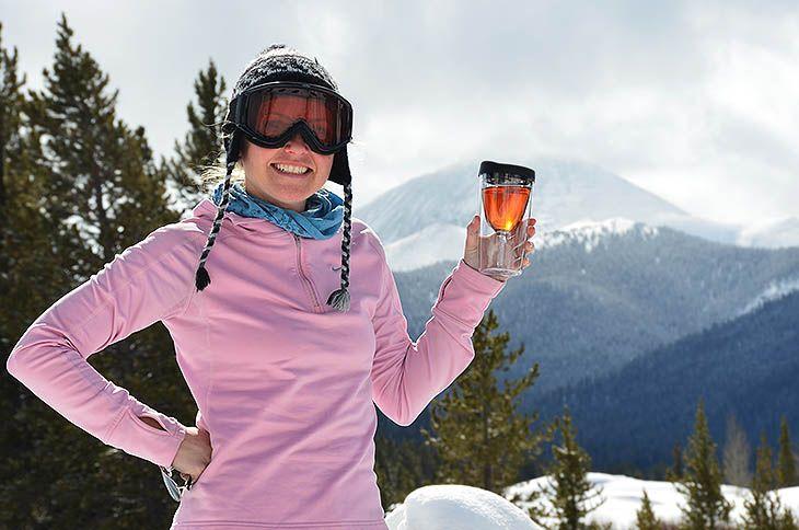 Kelsey Vinos in the Colorado Rockies! Kelsey has won 6 Vino2Go's and 1 Vino Caddy!