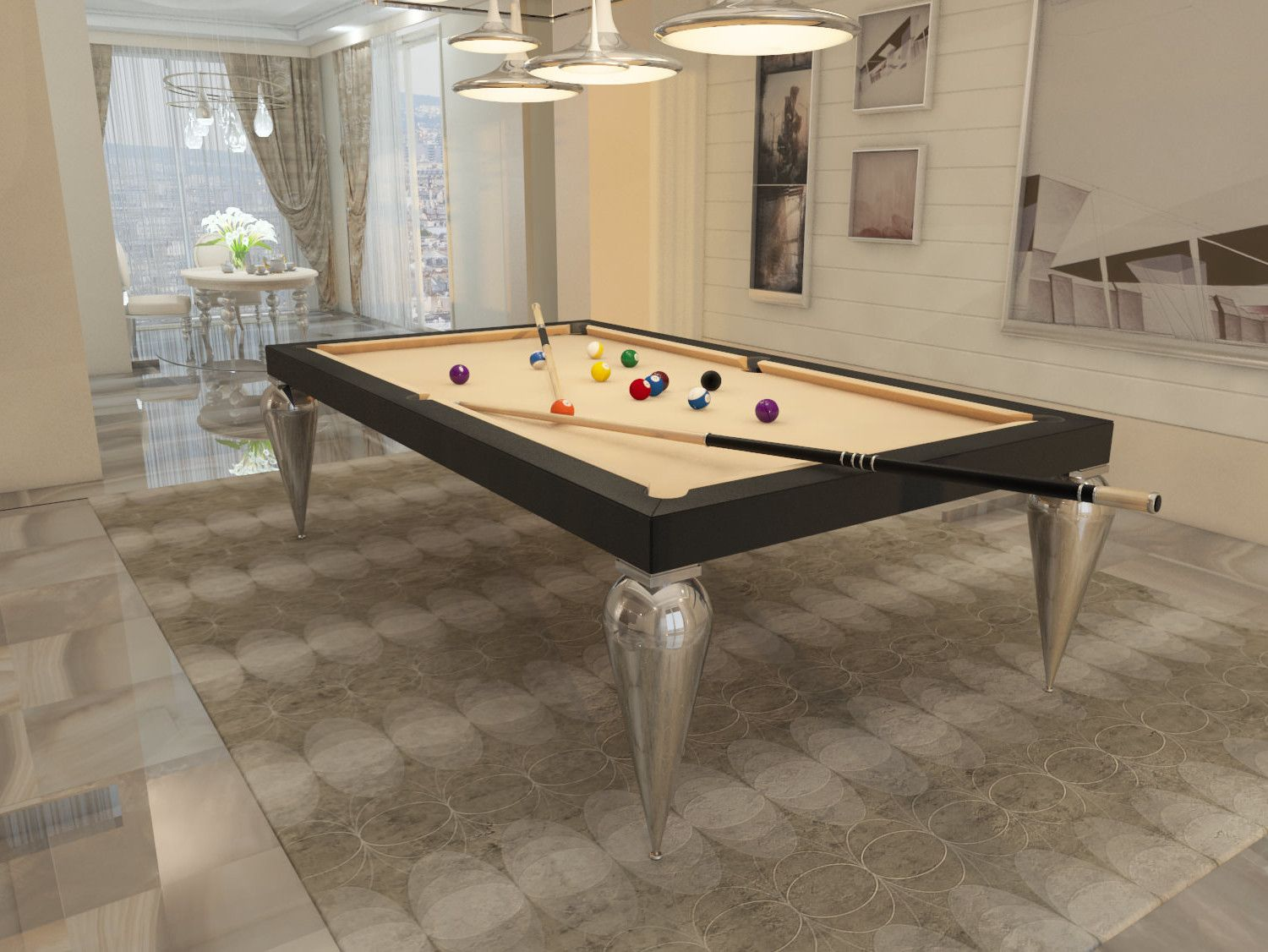 Tavolo Snooker ~ Billiard table dinner billiard table pool billiard tavolo