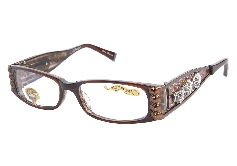 shine in style with these ed hardy eho 712 hazel eyeglassesthese eyeglasses frames come