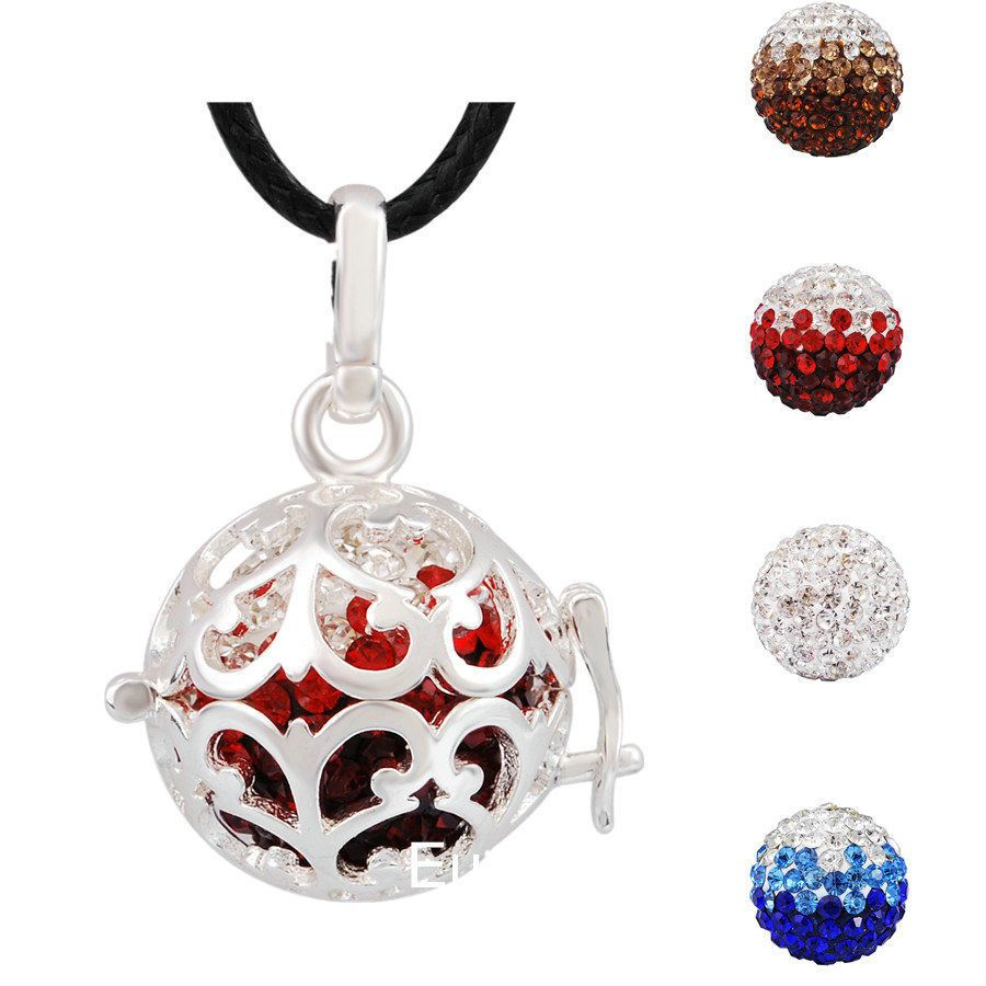 Harmony Ball Box Locket Necklace for Mexican Bell Prenatal Education Music