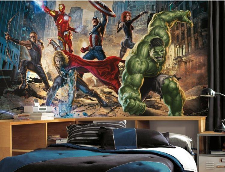 action heroes - http://deavita.com/baby-kinderzimmer/fototapete-im ... - Fototapete Im Kinderzimmer Wandgestaltung Ideen