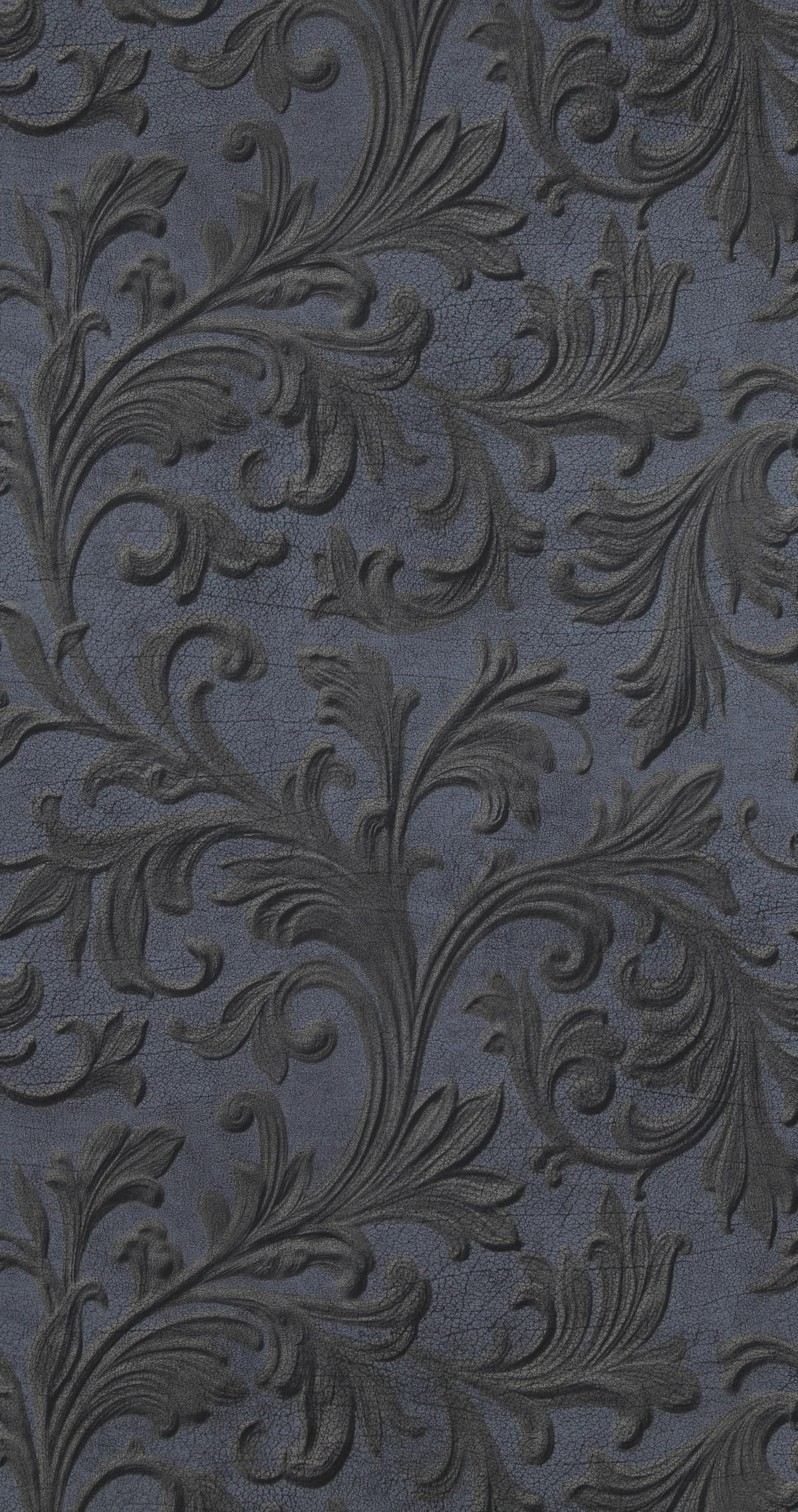 Love This Dark Royal Blue Neoclassical Demask Patterned Wallpaper Its Rococco Baroque Victorian