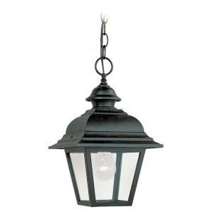 Sea Gull Lighting Bancroft 1 Light Black Outdoor Pendant