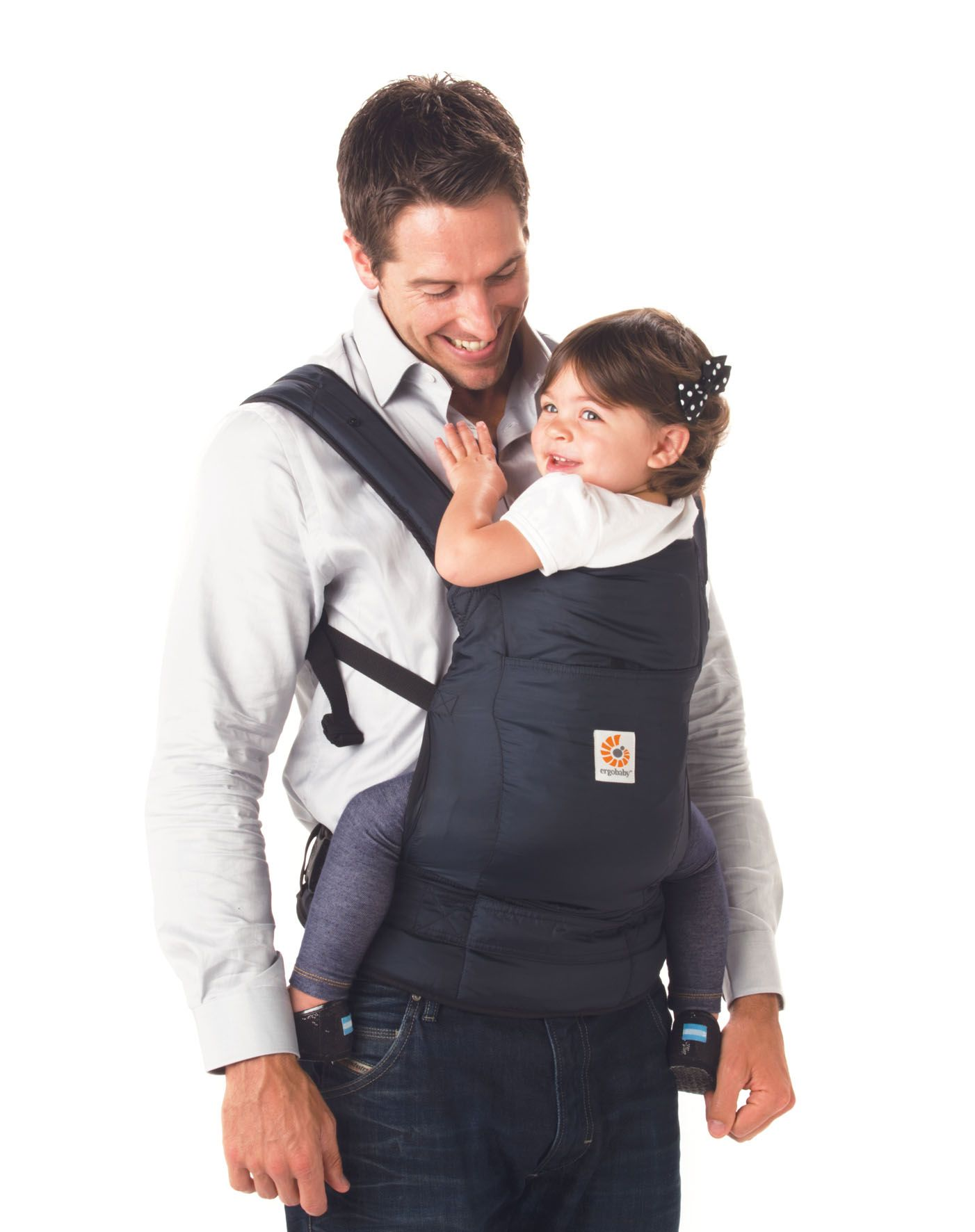 78ad0f302b7 The Baby Product Award winning Stowaway carrier in navy blue - Ergobaby -  www.oogappel.be