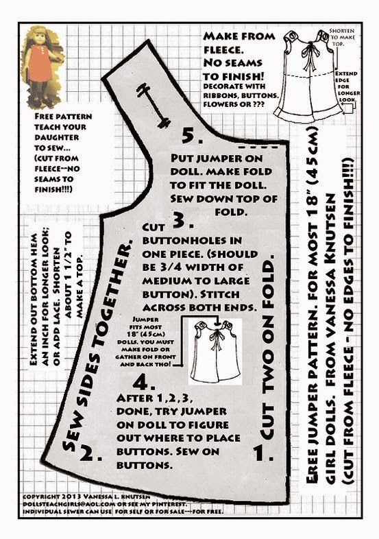Here you will find 28 FREE patterns for 18-inch dolls! Grab yours ...