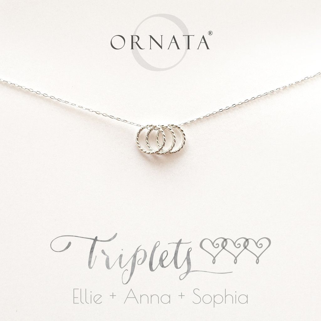 Triplets personalized sterling silver necklace small triplets personalized sterling silver necklace small triplets sterling silver necklace negle Images