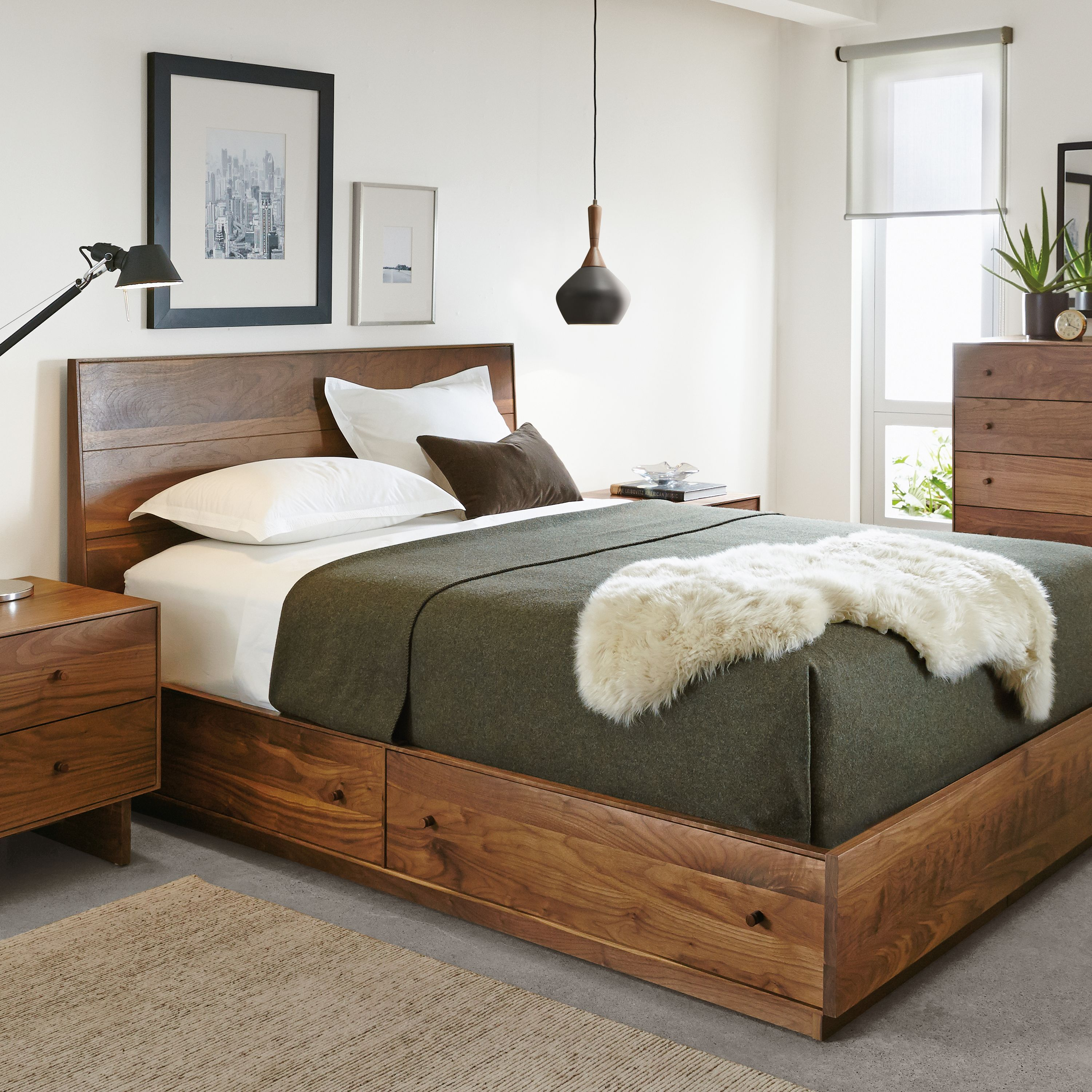 Hudson Bed With Storage Drawers Modern Contemporary Beds Modern Bedroom Furniture Room Board Modern Bedroom Furniture Bed Storage Drawers King Storage Bed