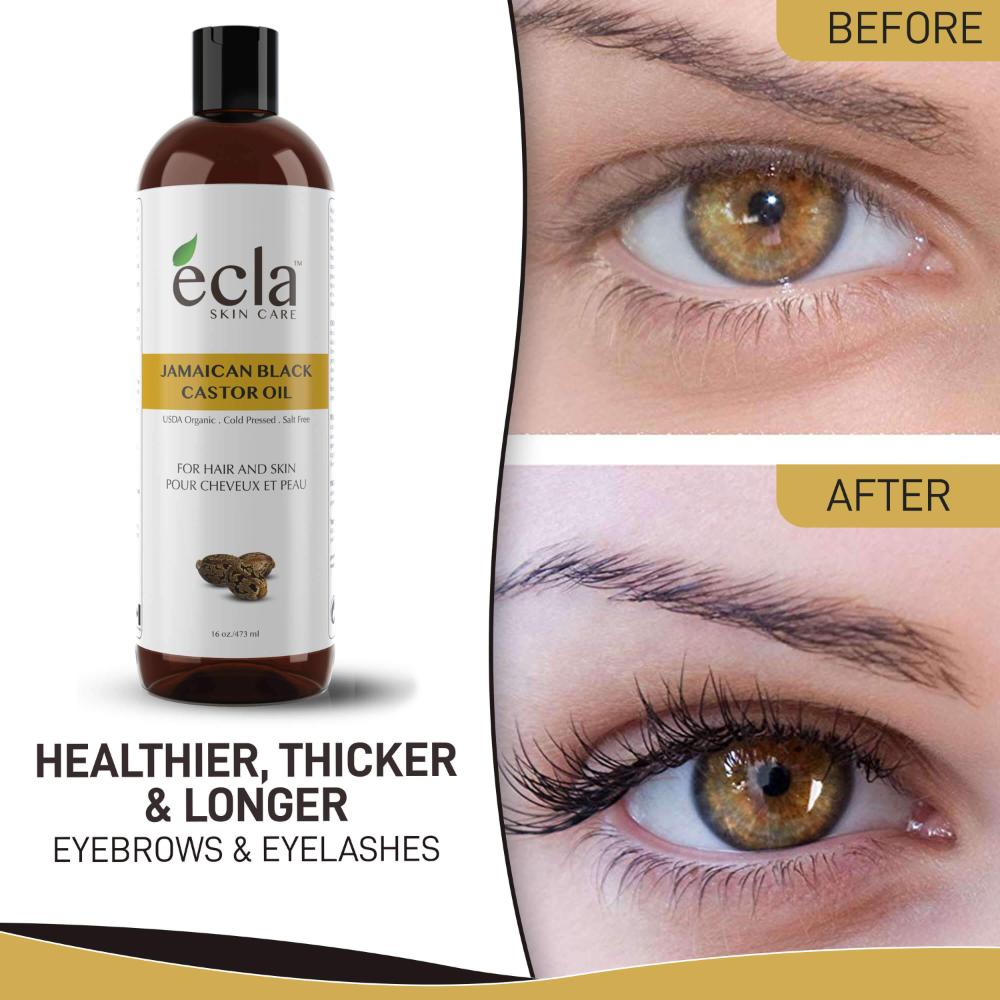 Organic Castor Oil Ecla Skin Care In 2020 Organic Castor Oil Skin Care Long Eyebrows