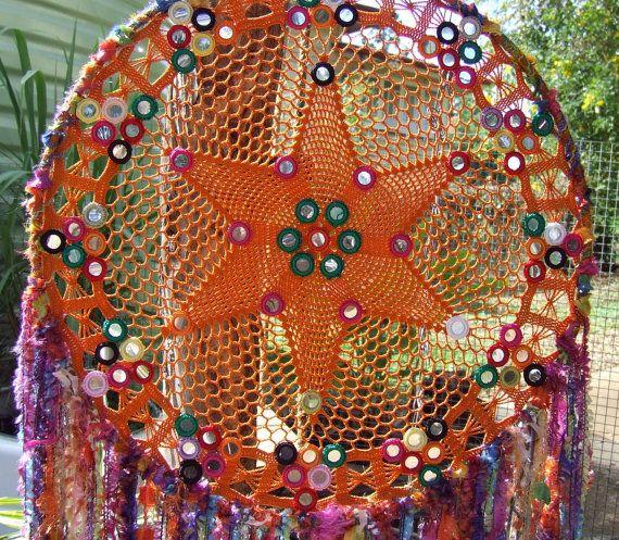 Boho Gypsy Doily Dreamcatcher Wall Art Decor by RavenshiresRealm