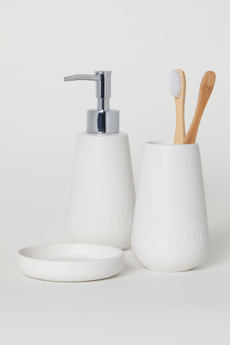 Ceramic Soap Dispenser White Home All H M Us Ceramic Soap Dispenser Soap Dispenser Bathroom Soap Dispenser