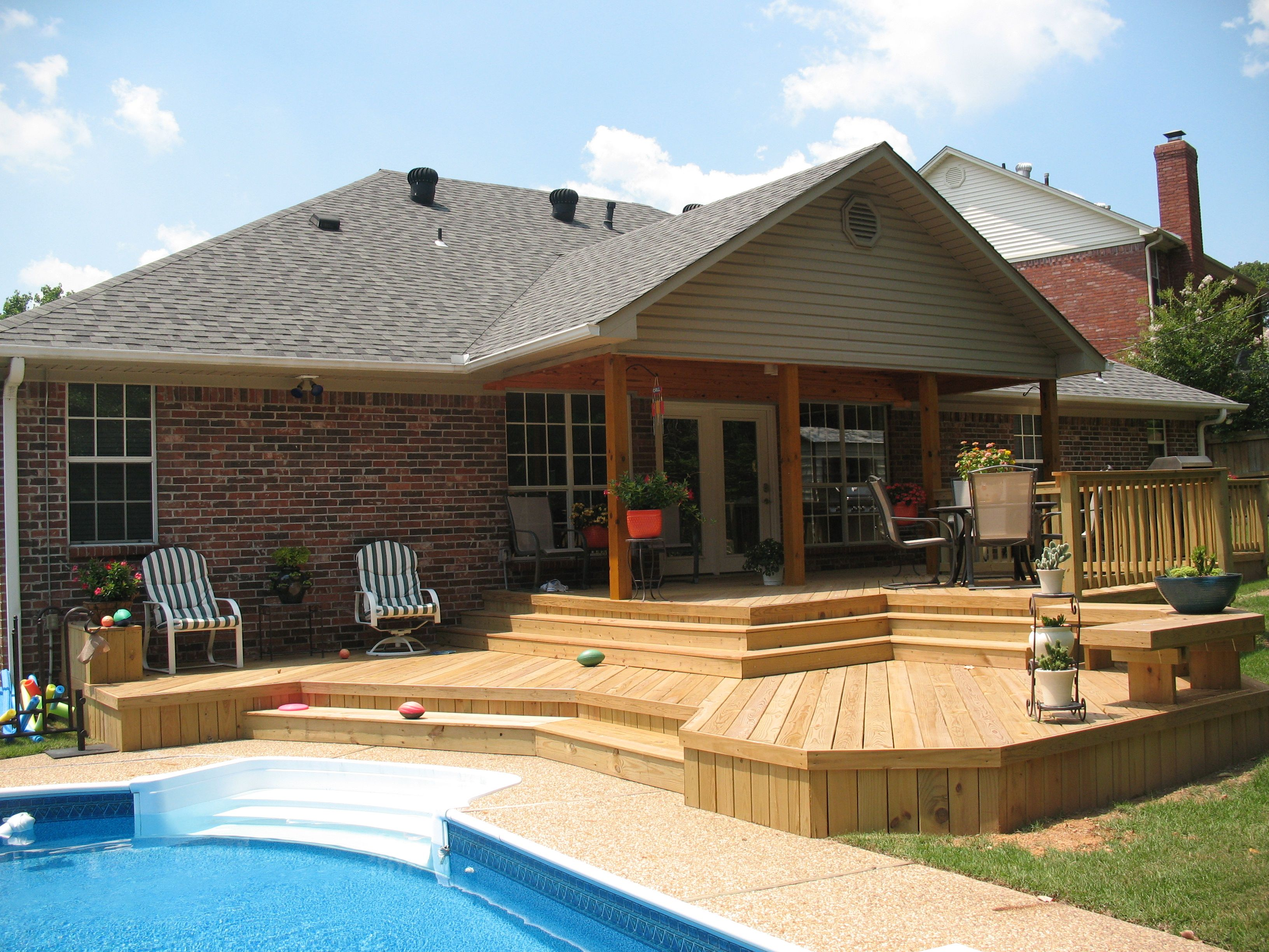 Deck design ideas pool deck multi level deck deck for Pool deck design plans